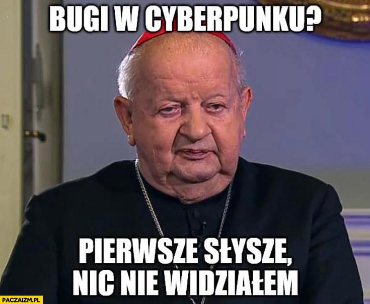 Dziwisz bugi w Cyberpunku? Pierwsze słyszę, nic nie widziałem