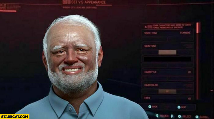 Dziwny pan ze Stocku Cyberpunk 2077 kreator postaci