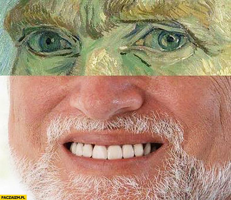 Dziwny pan ze stocku Van Gogh autoportret przeróbka połączenie