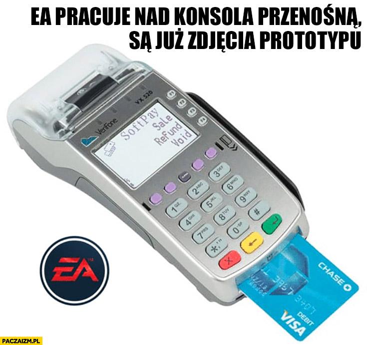 EA pracuje nad konsolą przenośną, są już zdjęcia prototypu terminal płatniczy kart kredytowych