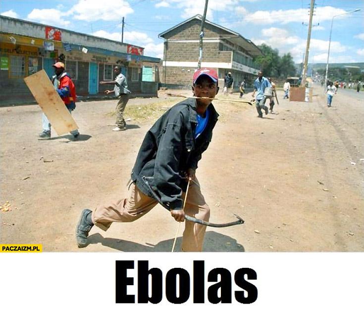 Ebolas legolas murzyn z łukiem
