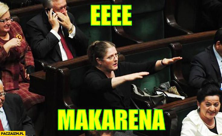 Eee Makarena! Posłanka Pawłowicz w sejmie