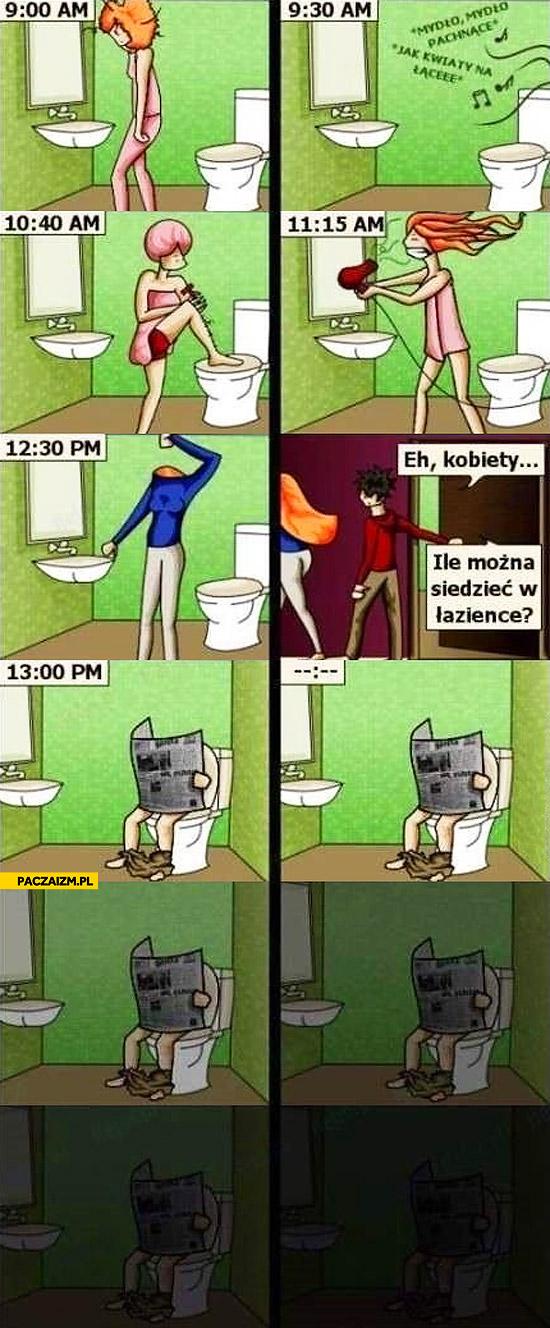 Eh kobiety ile można siedzieć w łazience