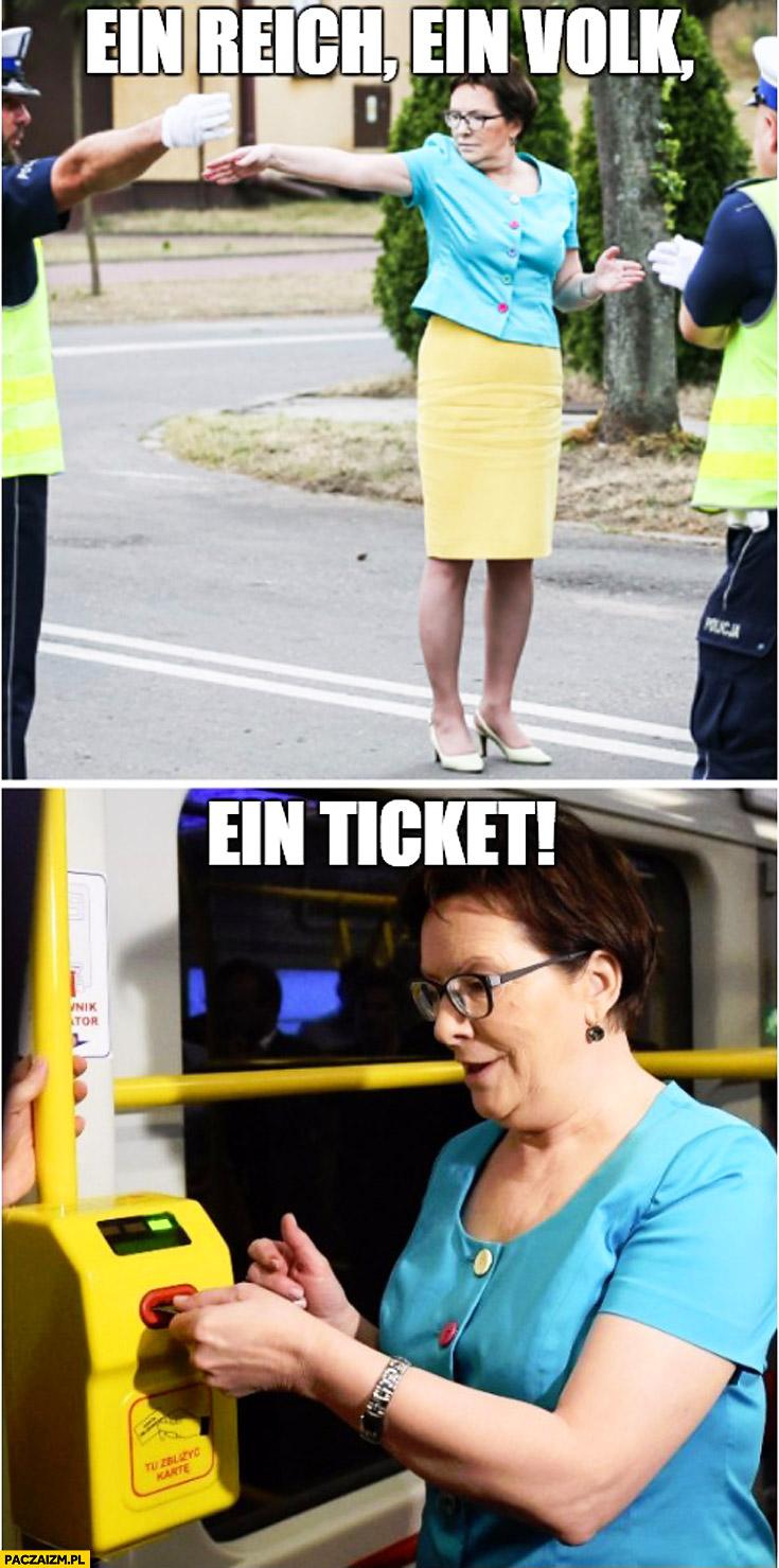 Ein reich ein volk ein ticket Ewa Kopacz