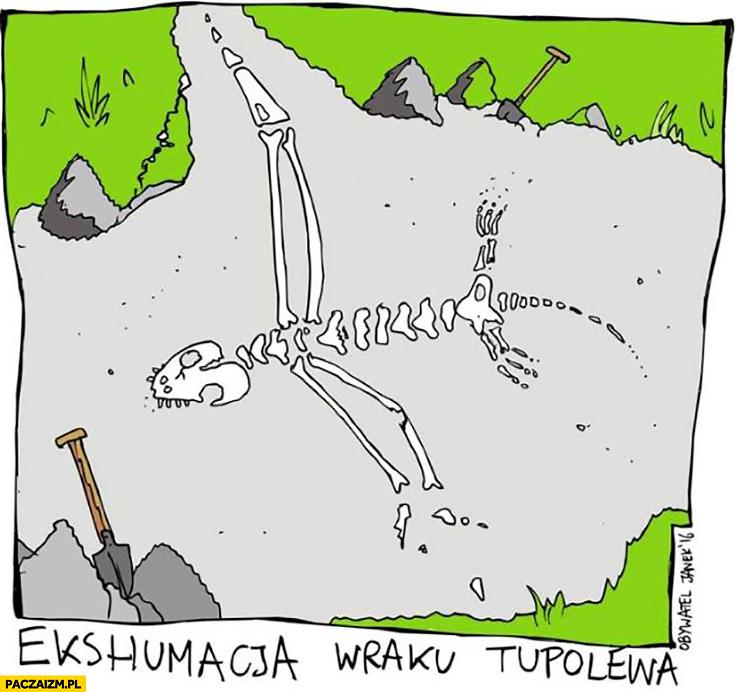 Ekshumacja wraku Tupolewa szkielet
