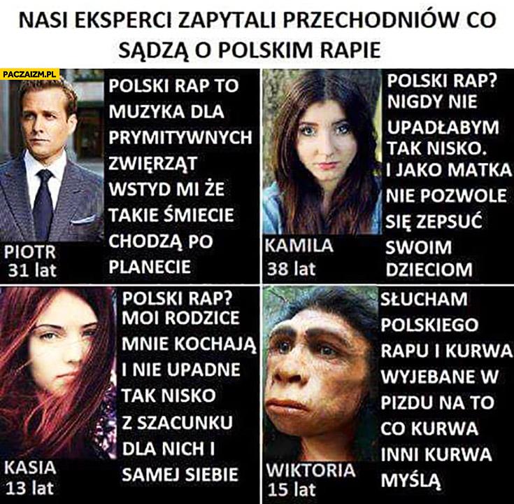 Eksperci zapytali przechodniów co sądzą o Polskim rapie: muzyka dla prymitywnych zwierząt