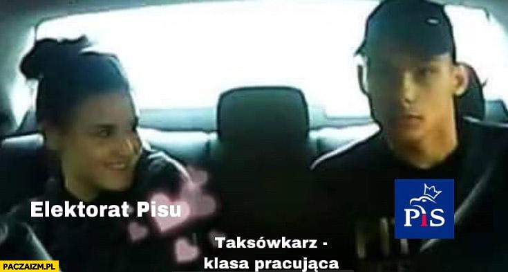 Elektorat PiSu, PiS, taksówkarz klasa pracująca napad na taksówkarza