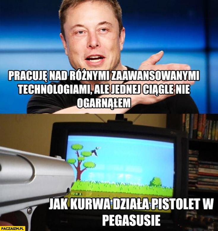Elon Musk pracuje nad różnymi technologiami ale ciągle nie ogarnąłem jak działa pistolet w Pegasusie