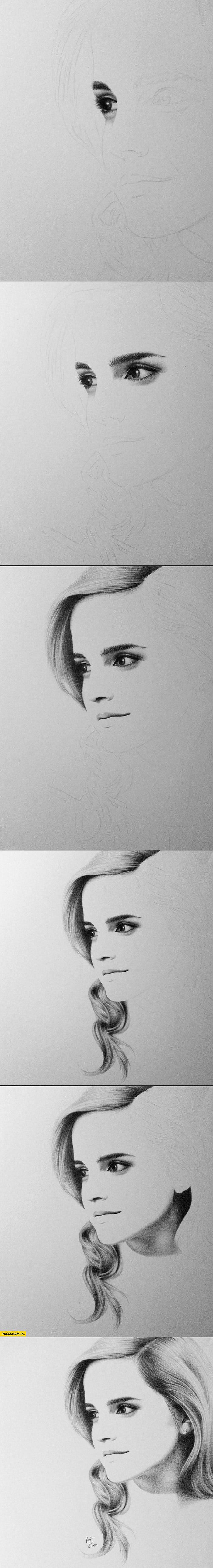Emma Watson szkic rysunek