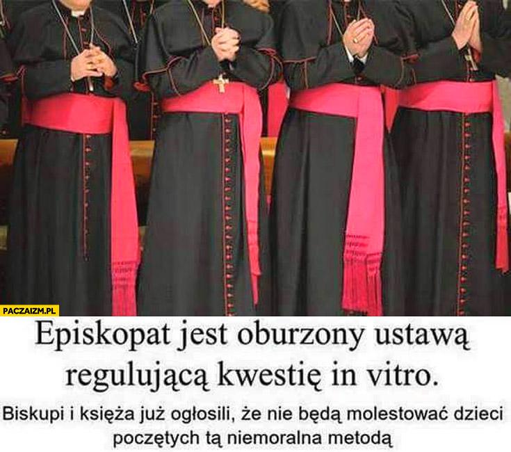 Episkopat oburzony ustawą in vitro ogłosili że nie będą molestować dzieci poczętych tą metoda