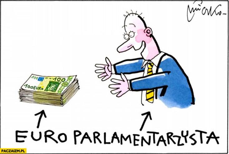 Euro parlamentarzysta mleczko