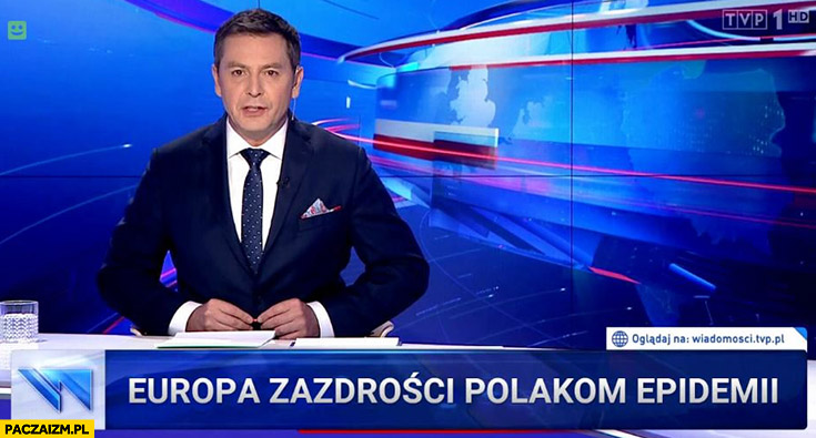 Europa zazdrości Polakom epidemii pasek Wiadomości TVP