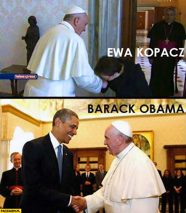 Ewa Kopacz Barack Obama Papież Franciszek
