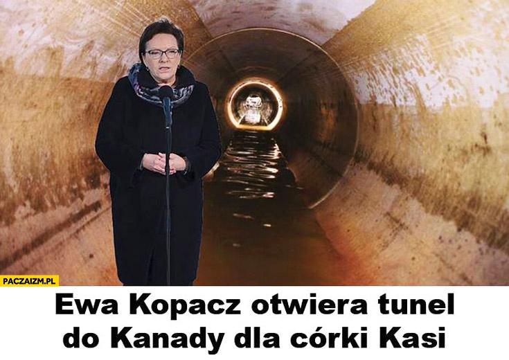 Ewa Kopacz otwiera tunel do Kanady dla córki Kasi