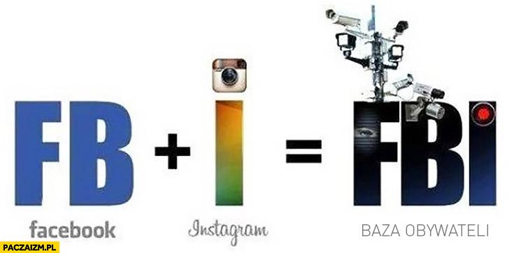 Facebook plus instagram równa się baza FBI