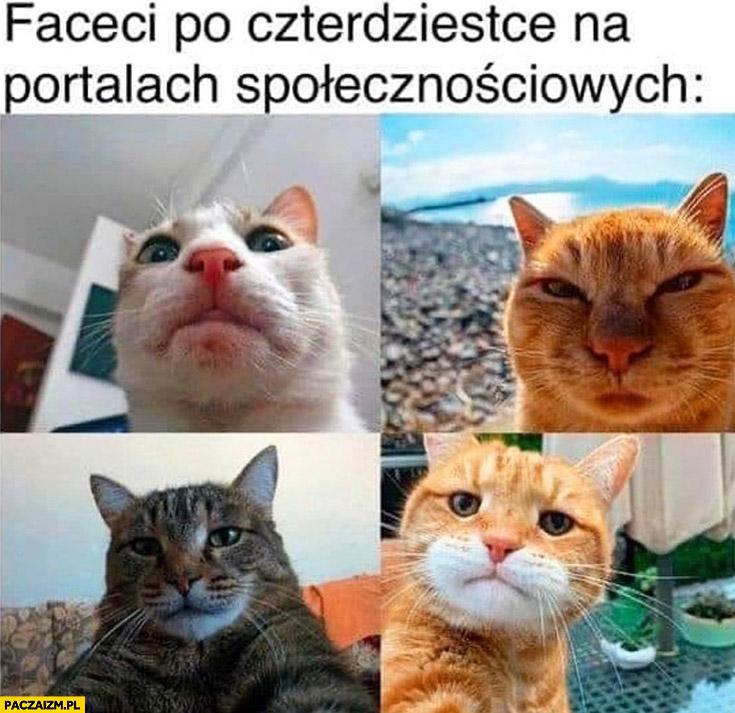 Faceci po czterdziestce na portalach społecznościowych koty selfie