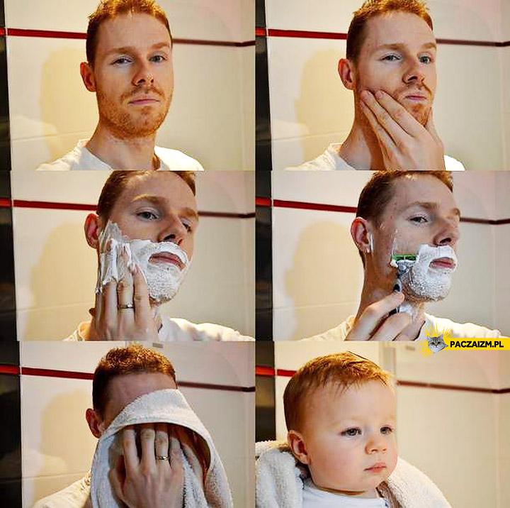 Facet po goleniu