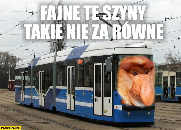 Fajne te szyny, takie nie za równe tramwaj typowy Polak nosacz małpa