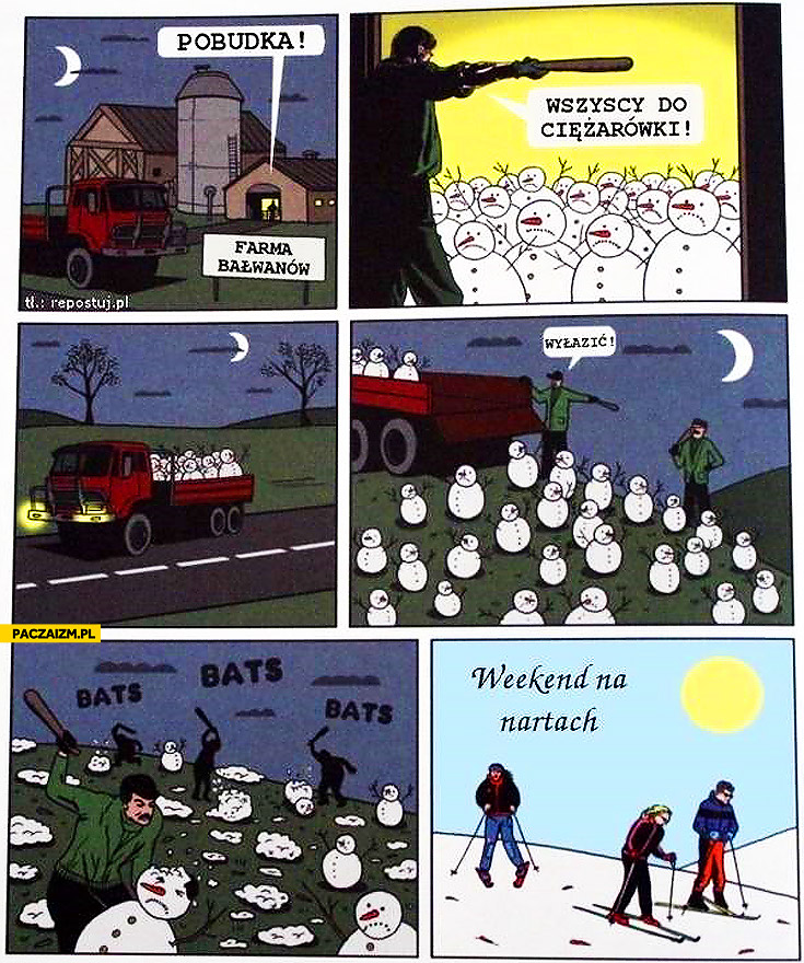 Farma bałwanów weekend na nartach