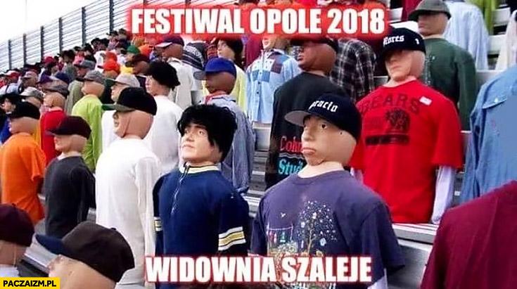 Festiwal Opole 2018 widownia szaleje kukły sztuczny tłum lalki