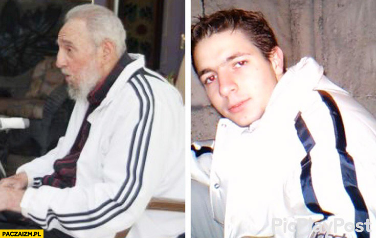 Fidel Castro, Patryk Jaki dres z paskami