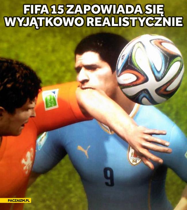 FIFA 15 zapowiada się wyjątkowo realistycznie Suarez gryzie