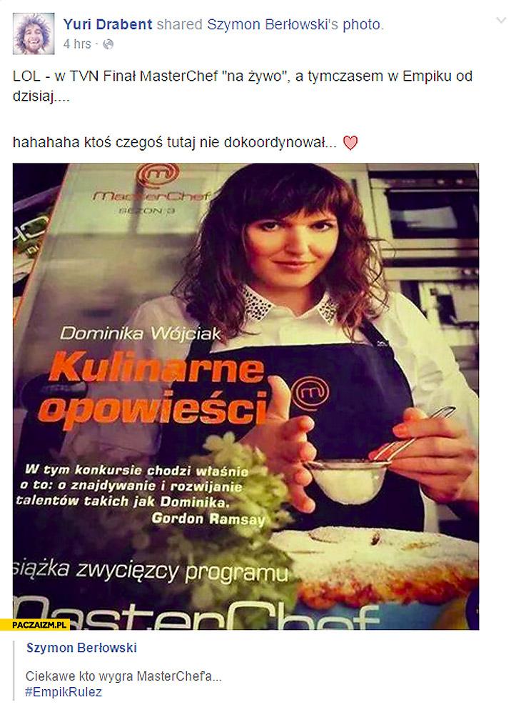 Finał Masterchef książka zwycięzcy programu w Empiku