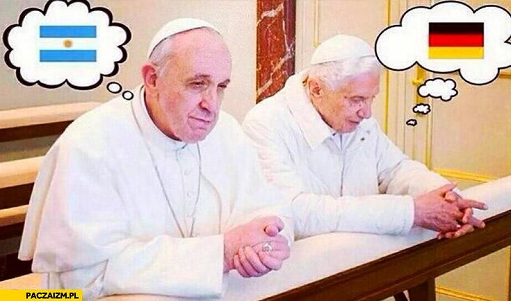 Finał mundialu papieże Niemcy Argentyna