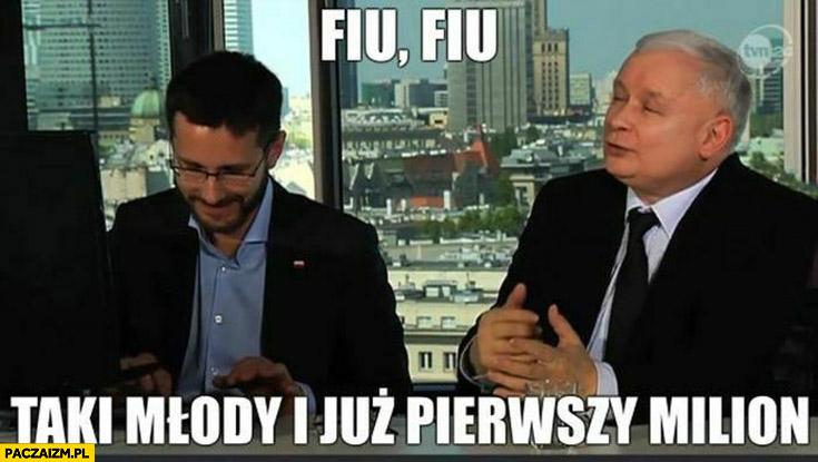 Fogiel Kaczyński fiu fiu taki młody i już pierwszy milion zachorowań na Covid