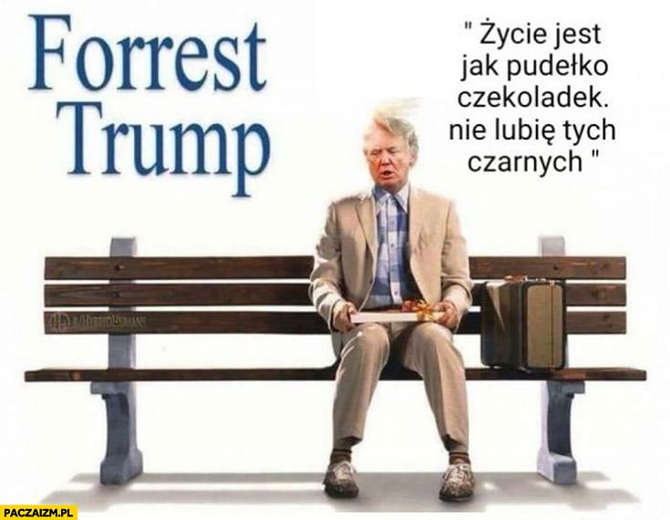 Forrest Trump życie jest jak pudełko czekoladek, nie lubię tych czarnych