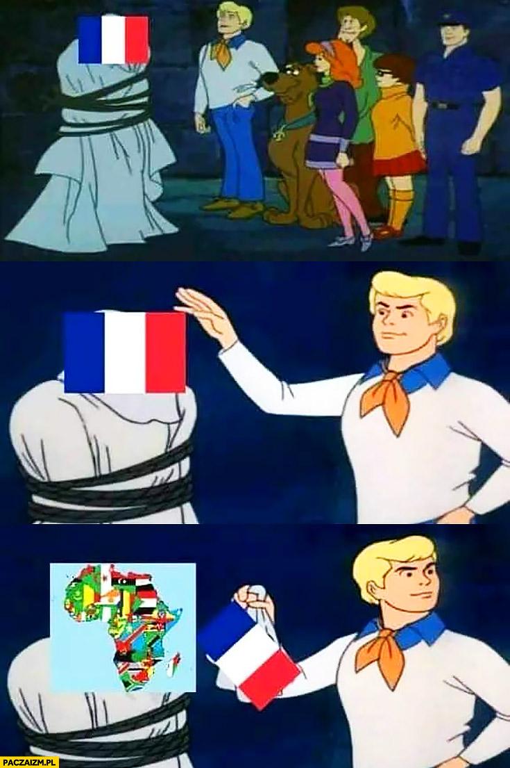 Francja na mundialu mistrzostwach świata tak naprawdę Afryka Scooby Doo zdejmuje maskę