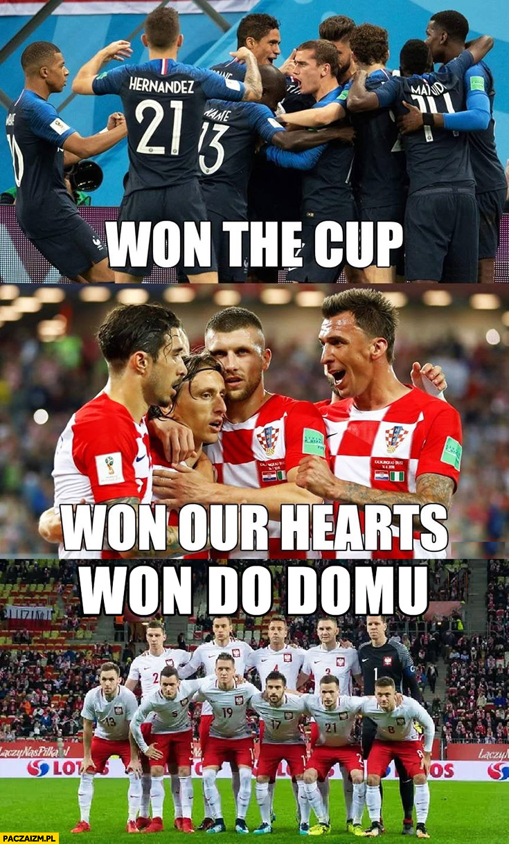 Francja won the cup, Chorwacja won our hearts, Polska won do domu