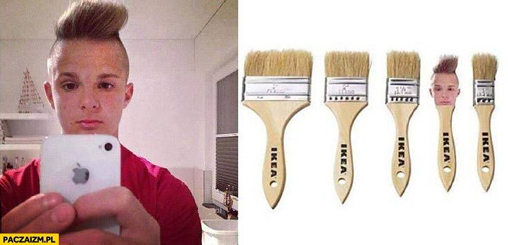 Fryzura jak szczotka z IKEI selfie