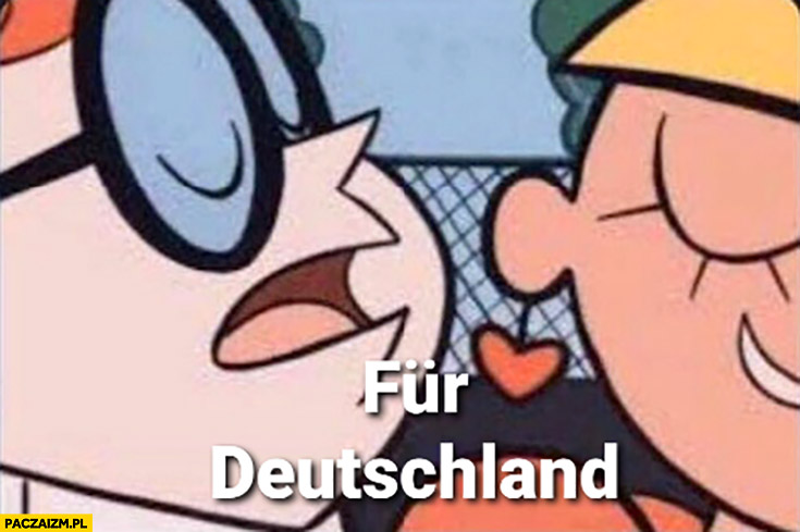 Fur Deutschland Dexter szepcze do ucha Donald Tusk