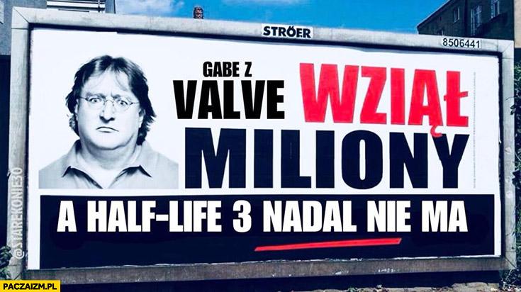 Gabe z Valve wziął miliony a Half-Life 3 nadal nie ma przeróbka billboard PiS
