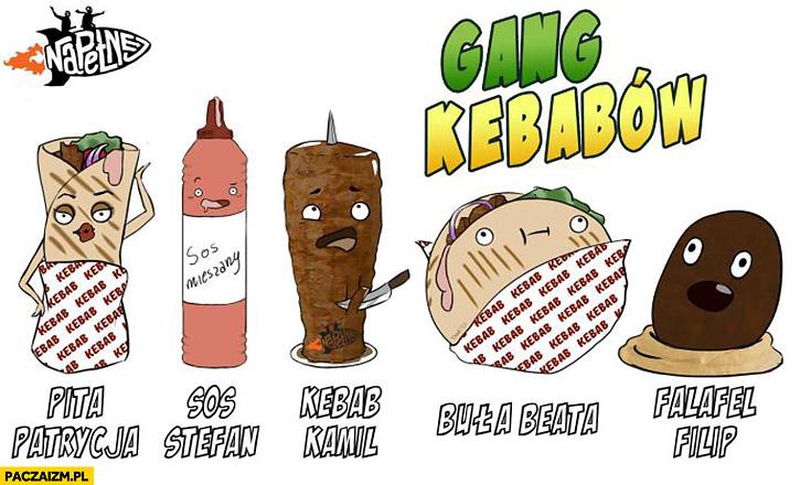 Gang kebabów przeróbka Gangu Świeżaków z Biedronki