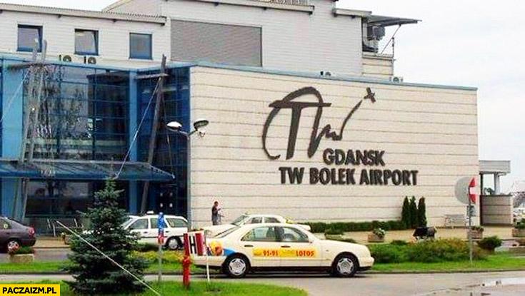 Gdańsk lotnisko TW Bolek Airport Lecha Wałęsy
