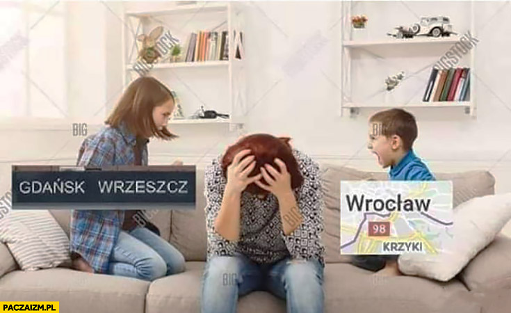 Gdańsk Wrzeszcz Wrocław Krzyki dzieci krzyczą na mamę nazwy dzielnic