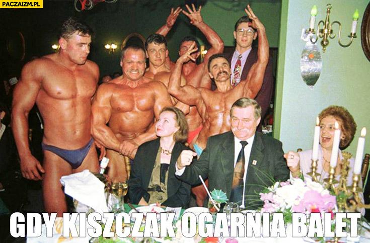 Gdy Kiszczak ogarnia balet Lech Wałęsa kulturyści Bolek