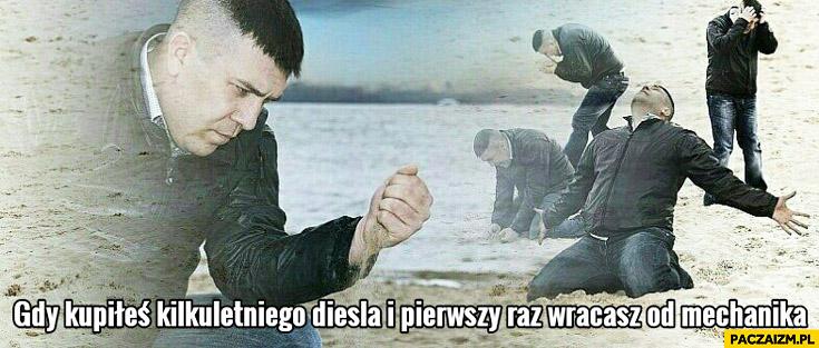 Gdy kupiłeś kilkuletniego diesla i pierwszy raz wracasz od mechanika