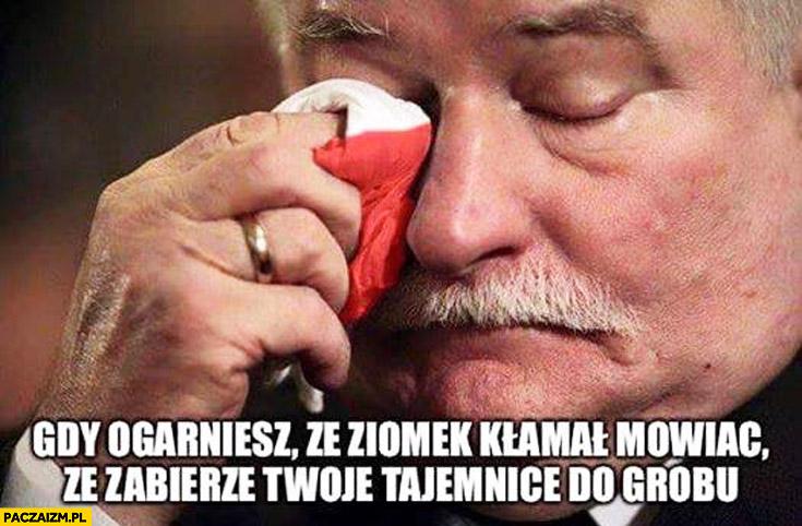 Gdy ogarniesz że ziomek kłamał mówiąc, że zabierze Twoje tajemnice do grobu Lech Wałęsa TW Bolek Kiszczak