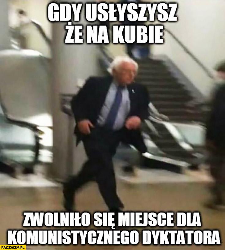Gdy usłyszysz, że na kubie zwolniło się miejsce dla komunistycznego dyktatora Bernie Sanders biegnie Fidel Castro