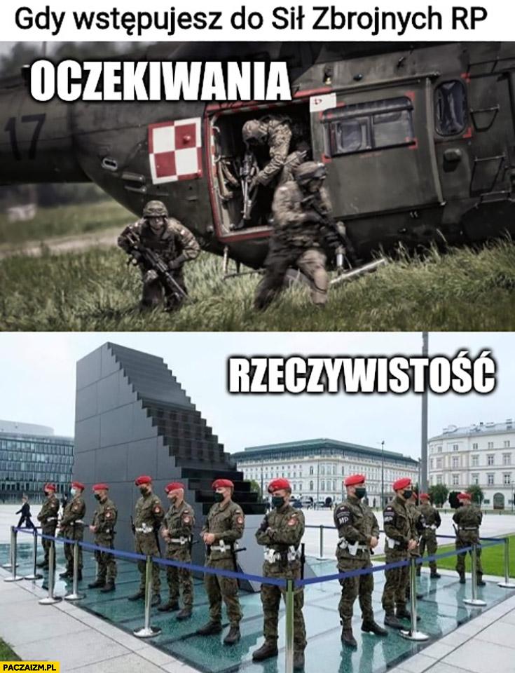 Gdy wstępujesz do sił zbrojnych RP oczekiwania vs rzeczywistość pilnowanie pomnika smoleńskiego