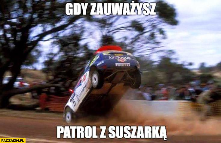 Gdy zauważysz patrol z suszarką samochód hamuje