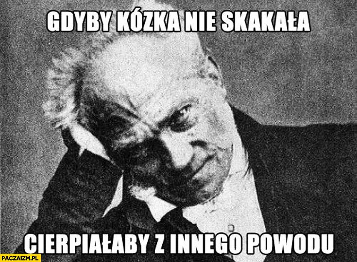 Gdyby kózka nie skakała cierpiałaby z innego powodu Schopenhauer