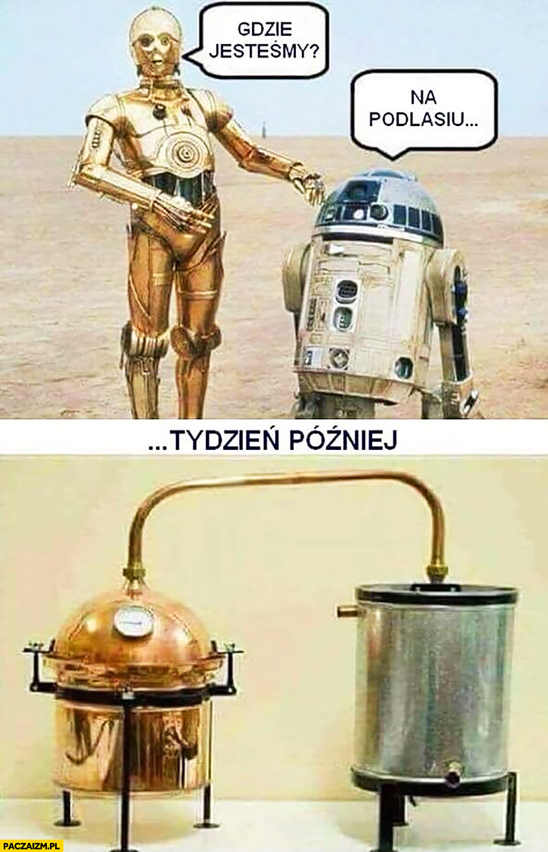 Gdzie jesteśmy? Na Podlasiu R2D2 C3PO przerobione na pojemniki Gwiezdne Wojny Star Wars