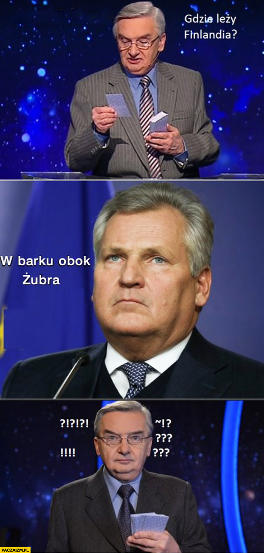 Gdzie leży Finlandia w barku? Obok Żubra Kwaśniewski Jeden z dziesięciu