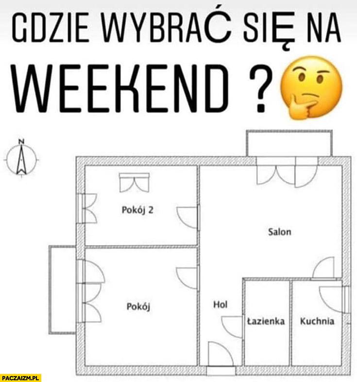 Gdzie wybrać się w weekend? Plan mieszkania który pokój
