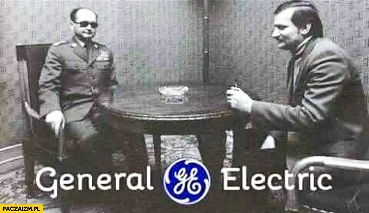 General Electric Jaruzelski Wałęsa generał elektryk