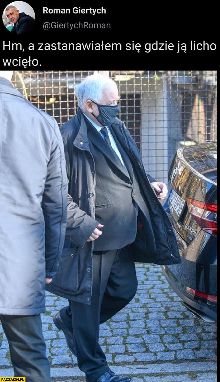 Giertych za duża kurtka Kaczyński zastanawiałem się gdzie ją licho wcięło